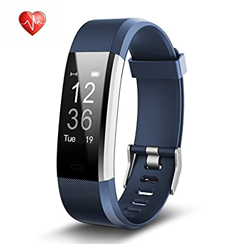 Fitness Tracker Heart Rate Monitor Activity Tracker Waterproof Smart Bracelet Bluetooth Wireless Pedometer Wristband Sleep Monitor Smartwatch for Android and iOS Smartphones