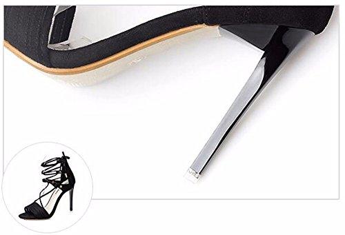 FLYRCX Sexy europea scavata ladies' sandali di raso e tacchi alti scarpe di partito A
