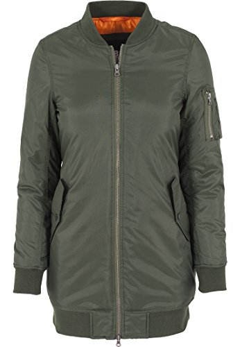 Urban Classics Damen Jacke Jacke Long Bomber Jacket grün (Olive) Large