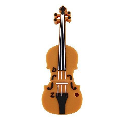 Usbkingdom 16gb usb 2.0flash drive cartoon musica violino forma pendrive memory stick usb thumb drive