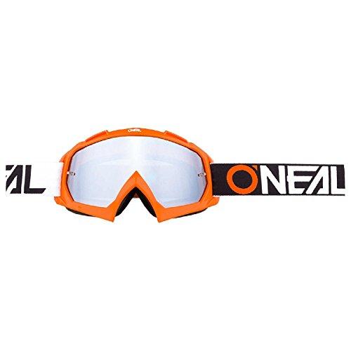 O'Neal B-10 Goggle Twoface Crossbrille Verspiegelt Silber Motocross DH Downhill MX Anti-Fog Glas, 6024-20, Farbe Orange