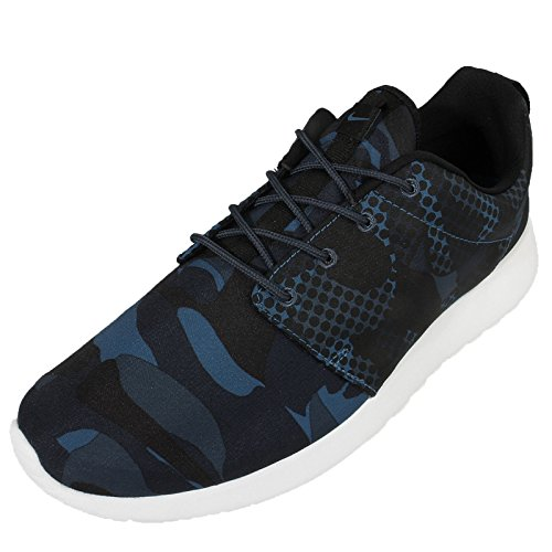 Nike Herren Roshe One Print Sneaker, Schwarz, MEDIA Varios colores (Azul / Negro (Brgd Blue / Blk-Sqdrn Bl-Obsdn))