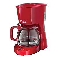 Russell Hobbs Textures Cam Kahve Makinesi Duş Başlığı Teknolojisi 10 bardak Kırmızı 22611-56