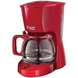 Russell Hobbs 22611-56 Machine à Café, Cafetière Filtre 1,25L Texture, Grande Capacité - Rouge