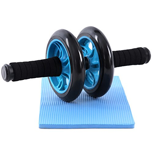 songmics-ab-roller-blue-abdominal-roller-machine-wheel-non-slip-extra-thick-knee-pad-mat-spu75p