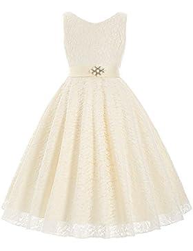 GRACE KARIN Sweet Prinzessin Lace Blumenmädchenkleider für Hochzeits Brautjungfern Festzug Partei Festliches Kleid