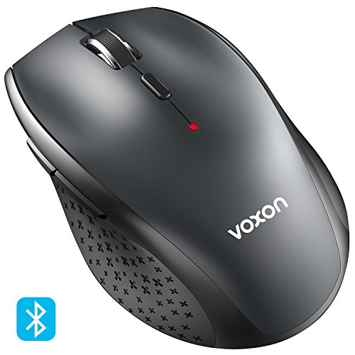 VOXON 3000 DPI Bluetooth Maus Kabellose Maus Wireless Bluetooth Mouse für PC Mac, 5 verstellbare DPI Level