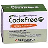 SD CodeFree Plus Glucometer Strips 50Tests Glucometer (Multicolor)