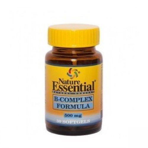 B complex formula 500 mg. 30 perlas con vitaminas C, E, B 1, B 2, B 3, B 5, B 6, B 9, B 12 y Biotina