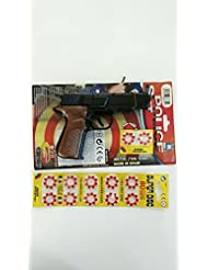 """Pstola policia metalico Dispara """"mistos"""", con 16 fulminantes incluidos. Fabricado en España. Y MAS REGALO un pack de 80 fulminantes"""