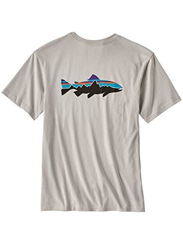 Preisvergleich Produktbild Patagonia 38821-tgy-s – M 's Fitz Roy Trout Cotton T-Shirt Farbe: Tailored Grey Größe: S