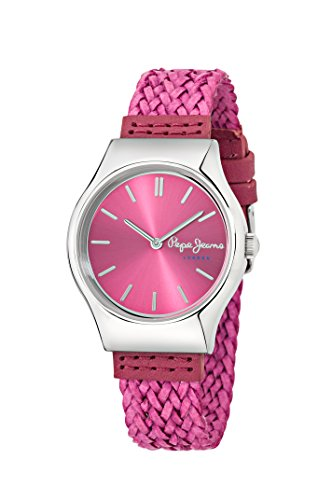 Pepe Jeans Joey Women's Quartz Watch with Pink Dial Analogue Display and Pink Leather Strap R2351113503