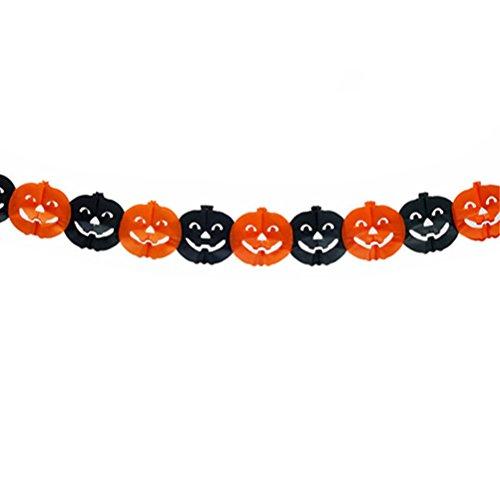 Tinksky Halloween-Papier-Girlande Kürbis-hängende Girlande Bunting Banner für (Halloween Bunting)