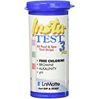 Lamotte Insta-test 3voies pour piscine et spa bandelette (tests pour le chlore, brome, PH et alcalinité)