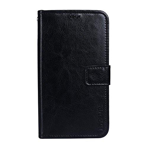COVO® LG Q Stylus Brieftasche Hülle PU+TPU Kunstleder Handyfall für LG Q Stylus mit Stand Funktion EIN Stent-Funktion (Schwarz)