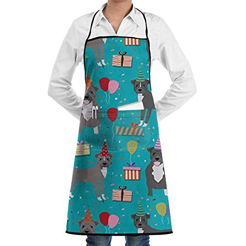 Kostüm Starwars Sexy - Drempad Unisex Schürzen, Pitbull Birthday Party Blue Christmas Apron for Women and Men - Adjustable Neck Strap - Home Kitchen Apron Bib for Cooking, Grill and Baking, Crafting, Gardening, BBQ