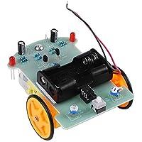 TOPINCN Robot De Guidage Voiture Kit Accessoires DIY Composants Electroniques Pour Enfants Concours Apprentissage De L…