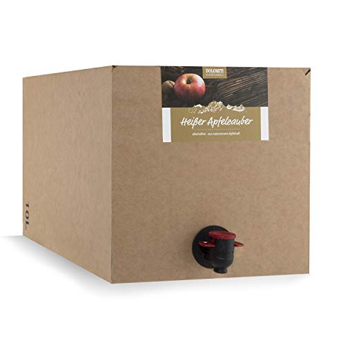DOLOMITI Heißer Apfelzauber alkoholfrei Bag in Box | fruchtiger Apfelpunsch ohne Alkohol | 1 x 10.0 Liter Bag-in-Box