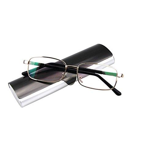 Meijunter Quadratische Metallrahmen Hyperopia Brillen Mode Lesebrille
