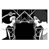 banjado Glas Küchenrückwand selbstklebend 60x90cm groß   Spritzschutz Fliesenspiegel mit Motiv Retro Party Girls   Memoboard mit 4 Magneten + Stift   Wandbild beschreibbar ohne Bohren