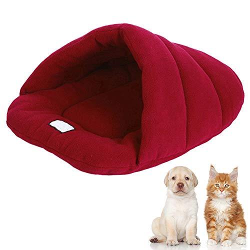 Wrighteu Saco de Dormir Cueva de Perro Gatos Caliente Suave Bolsas Cama...