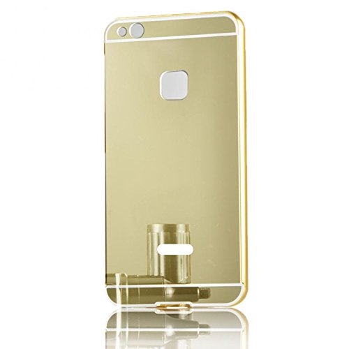 unroyal Ultra-dünne Schutzhülle Aluminium Metallgehäuse, Spiegel Hülle Mirror Effect Tasche Case for Huawei P10 Lite / Nova Lite 5.2
