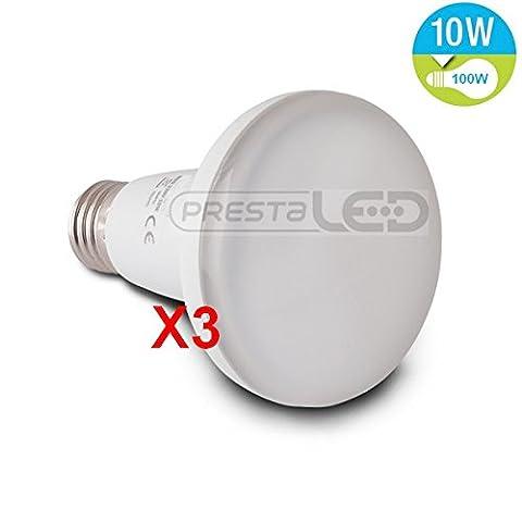 R80 E27 Ampoule Led - 3 AMPOULE LED E27 R80 BLANC FROID