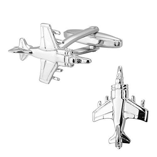 Fighter Jet Air Force Militär Flugzeug War Eine Hochzeit Manschette Link Silber Formale Manschettenknöpfe
