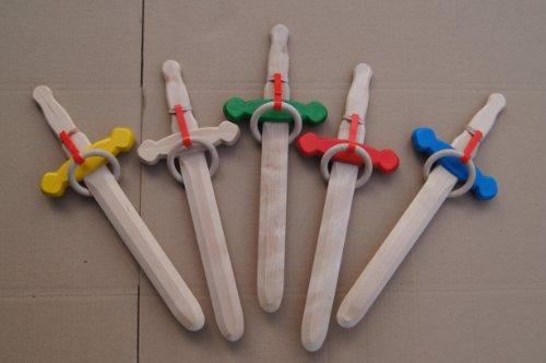 Dague de chevalier en bois très solide et fourreau de ceinture