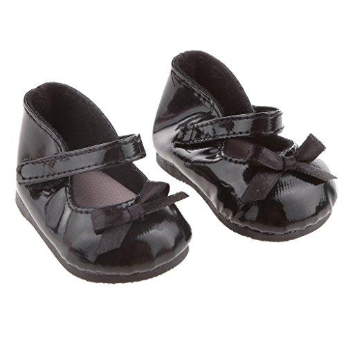 kingwin Mini American Girl Puppe Schleife Schuhe–Schwarz