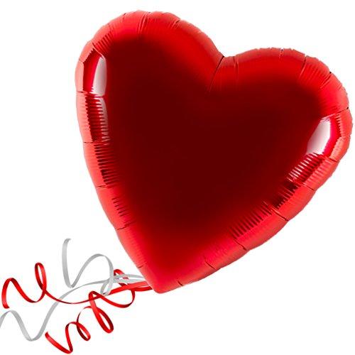> > > Fertig Heliumbefüllt < < < Folienballon großes Herz rot Ballon mit Helium/Ballongas gefüllt Liebe Heiratsantrag Valentinstag von Haus der Herzen (Gefüllte Ballons Helium)