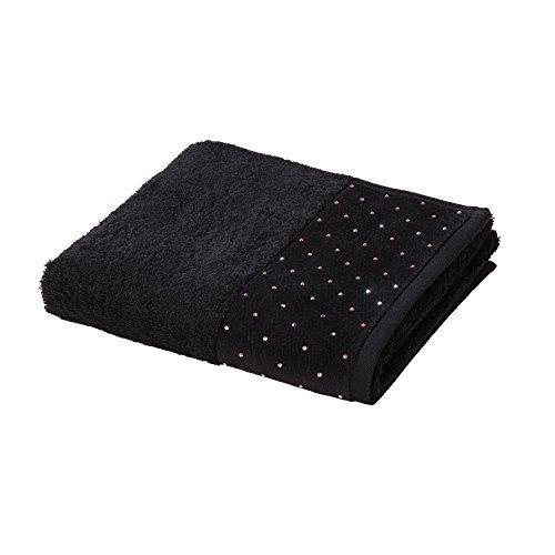Möve Crystal Collection uni mit Swarovski Handtuch 50 x 100 cm, schwarz