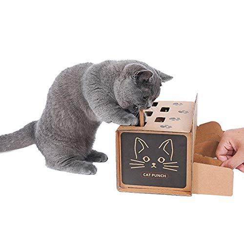DuYanDY Giocattolo per Gatto Criceto in Carta ondulata Giocattolo per Gatti Divertimento Divertente Resistente all'Usura Pet Forniture interattive per Animali Domestici, 30 * 15,5 * 13,5 cm