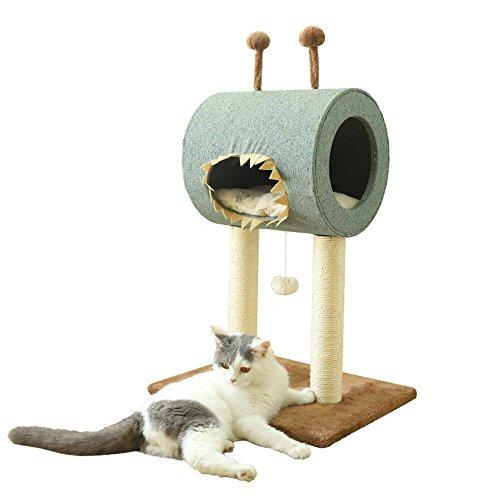 Preisvergleich Produktbild Kaxima Kratzbaum Katzenbaum Schleifen von Claw Spielzeug Baumwolle Hanf Sisal Spanplatte 49 * 40 * 71 cm
