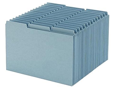 Esselte - Pressboard Index Card Guides,Blank,1/3 Cut,8