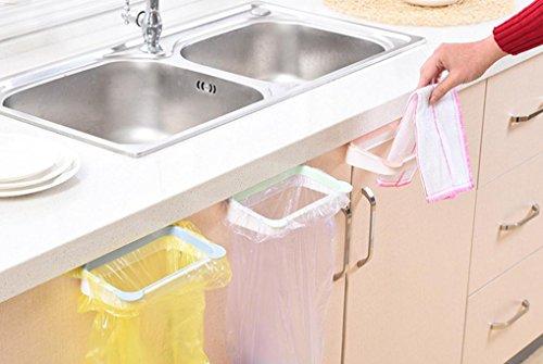 Türkei Garbage Bag Halter Kunststoff Halterung Aufhängung Küche Schrank Schrank Heckklappe Küche Trash Rack Müll Hängeverpackung lichtgrün - über Das Kabinett Küche Handtuch