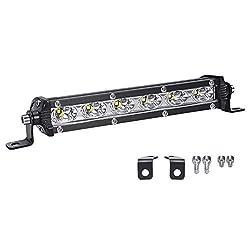 LED Arbeitsscheinwerfer, LTPAG 7 Zoll 18W Zusatzscheinwerfer Bar 6000K Weiß IP67 Wasserdicht Offroad Scheinwerfer Arbeitslicht mit 6 LEDs 9V-30V