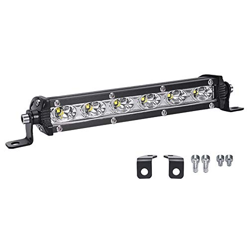 LED Arbeitsscheinwerfer, LTPAG 7 Zoll 18W Zusatzscheinwerfer Bar 6000K Weiß IP67 Wasserdicht Offroad Scheinwerfer Arbeitslicht mit 6 LEDs 9V-30V -