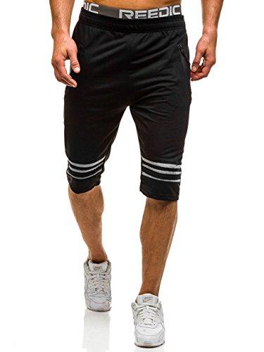 BOLF Hombre Pantalones Cortos Deportivos RED FIREBALL 8305 Negro XXL [