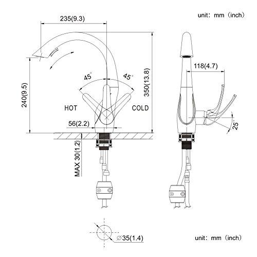 Homelody – Design-Küchenarmatur mit ausziehbarer Brause, Chrom - 2