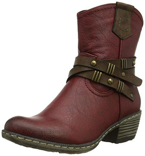 Rieker Kinder Mädchen Teens Cowboy Stiefel Rot, 35 EU