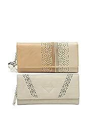 Butterflies Women Wallet Combos (Beige,Cream) (BNS C148) (Pack of 2)