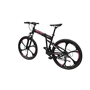 Helliot Bikes Hummer 01 Bicicleta de montaña Plegable, Adultos Unisex, Negra, M-L
