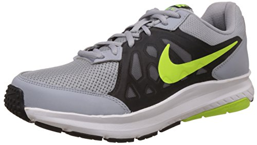 Nike Men Wolf Grey, Volt, Black and White Running Shoes