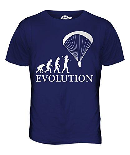 CandyMix Gleitschirmfliegen Gleitschirm Evolution Des Menschen Herren T  Shirt