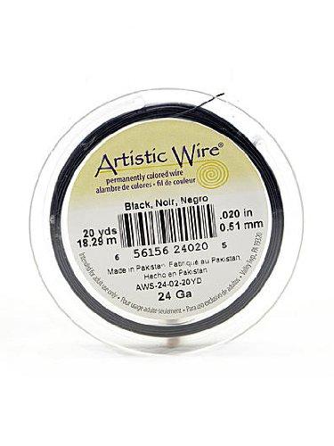 Artistic Wire Spools 20 yd. black 24 gauge by Artistic Wire (Gauge Spool 4)