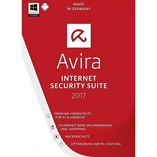 Avira Internet Security 2017 / 5 PC + 5 Android / 1 Jahr (Lizenz/PKC) & Datenrettung by EaseUS CD-ROM