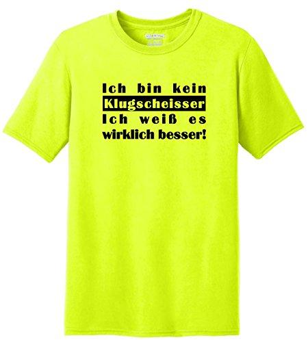 Fun Shirt Sprüche Ich bin kein Klugscheisser - Ich weiß es wirklich besser Neongelb