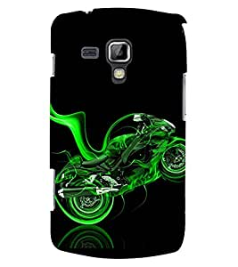 PRINTSWAG GREEN BIKE Designer Back Cover Case for SAMSUNG GALAXY S DUOS S7562