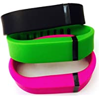 Preisvergleich für ! Small S 1pc Green 1pc Black 1pc Purple / Pink Replacement Bands + 1pc Free Small Grey Band With Clasp for Fitbit FLEX Only /No tracker/ Wireless Activity Bracelet Sport Wristband Fit Bit Flex Bracelet Sport Arm Band Armband